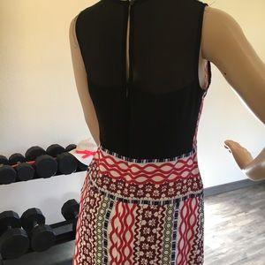 NEXIIA multi color keyhole back maxi dress w slits